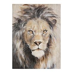 Neutral Lion Canvas Art Print