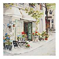 Bright Corner Cafe Canvas Art Print