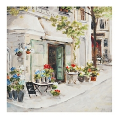 Bright Corner Cafe Canvas Art Print