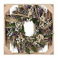 Purple Dried Honeysuckle Wreath