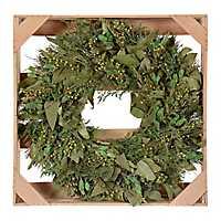 Green Dried Privet Wreath