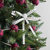 Galvanized Metal Bow Ornament