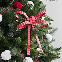 Red Galvanized Metal Ornament