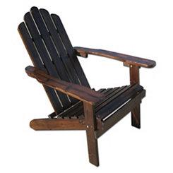 Charcoal Wood Folding Adirondack Chair