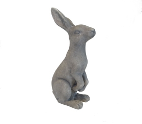 Ears Up Bunny Statue