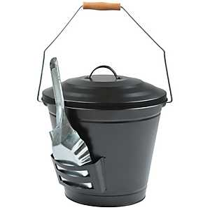 Oval Ash Bucket with Shovel