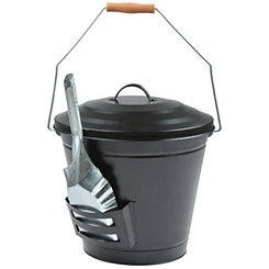 Oval Ash Bucket with Shovel