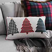 Plaid Trees Accent Pillow