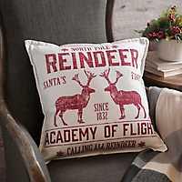 Plaid Reindeer Aviation Pillow