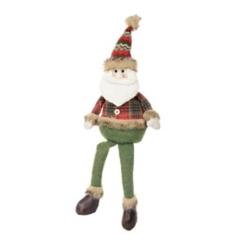 Plush Plaid Santa Shelf Sitter