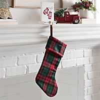 Red and Green Plaid Christmas Stocking