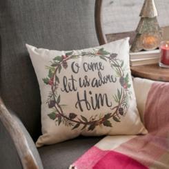 Oh Come Let Us Adore Him Pillow