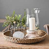 Seagrass Round Decorative Tray