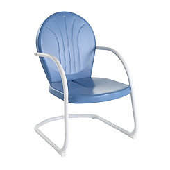 Griffin Metal Sky Blue Outdoor Chair
