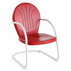 Griffin Metal Red Outdoor Chair