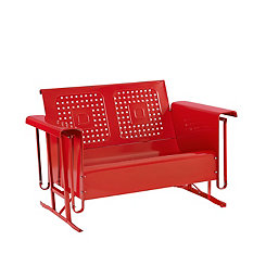 Bailey Red Loveseat Outdoor Glider