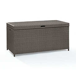 Harbor Wicker Gray Storage Bin