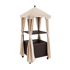 Harbor Wicker with Sand Cover Towel Valet