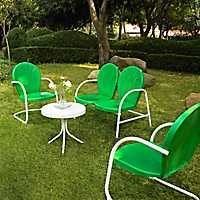 Griffin Metal Green Patio Set, Set of 4