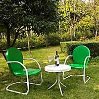 Griffin Metal Green Patio Set, Set of 3