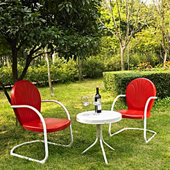 Griffin Metal Red Patio Set, Set of 3