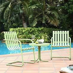 Graham Metal Green Patio Set, Set of 3