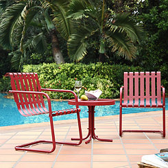 Graham Metal Red Patio Set, Set of 3