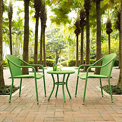 Harbor Green Wicker 3-pc. Outdoor Patio Set