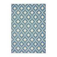 Blue Addison Diamond Outdoor Area Rug, 5x7