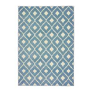 Blue Addison Diamond Outdoor Area Rug, 5x7