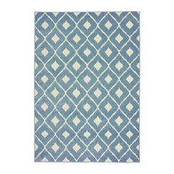 Blue Addison Diamond Outdoor Area Rug, 7x10