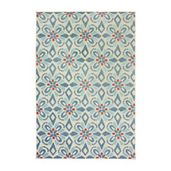 Blue Castleberry Outdoor Area Rug, 5x7