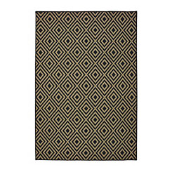 Black Haydn Outdoor Area Rug, 5x7
