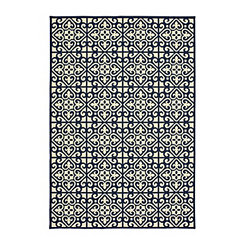 Navy Florence Outdoor Area Rug, 5x7