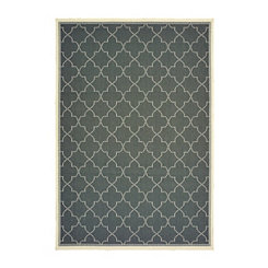Gray Zara Outdoor Area Rug, 5x7