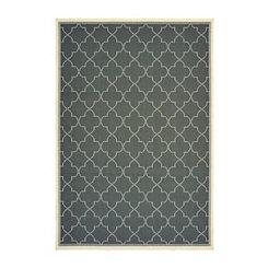 Gray Zara Outdoor Area Rug, 7x10