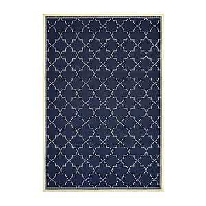 Navy Zara Outdoor Area Rug, 5x7