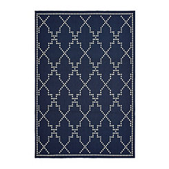 Navy Caden Outdoor Area Rug, 5x7