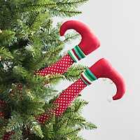 Red Merry Elf Legs Pick, Set of 2