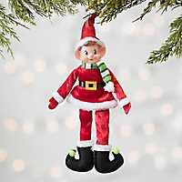 Pixie Elf in Santa Suit Ornament