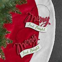 Merry Christmas Ornament, Set of 2
