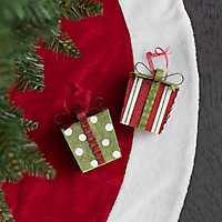 Patterned Present Ornament, Set of 2