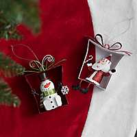 Character Present Ornament, Set of 2