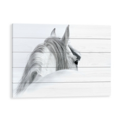 Horse in the Mist Wood Pallet Art Print