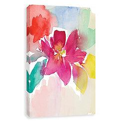 Modern Fleur I Hand Embellished Canvas Art Print