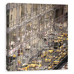View of Times Square Embellished Canvas Print