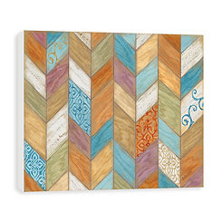 Rustic Chevron Wood Art Print