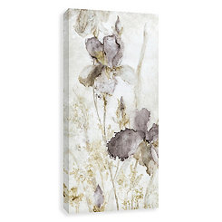 Morning Iris Neutral Embellished Canvas Art Print
