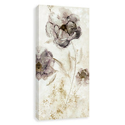 Morning Peony Neutral Embellished Canvas Art Print