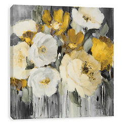 Gold in the Night Embellished Canvas Art Print